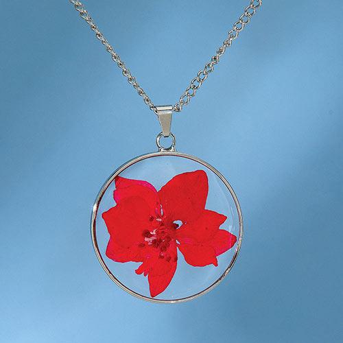 Birth Flower Necklace - December (Gaura)