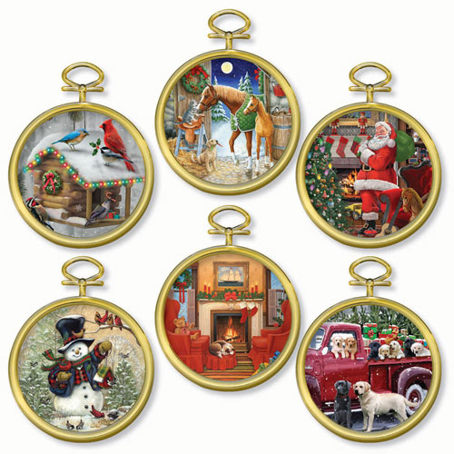 Christmas Ornament Mini Puzzles with Frames