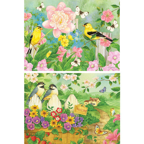 Set of 2: Garden Grace and Gateway to Friendship 300 Large Piece Jigsaw Puzzle