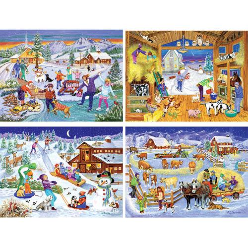 Set of 4: Sandy Rusinko 300 Large Piece Jigsaw Puzzles