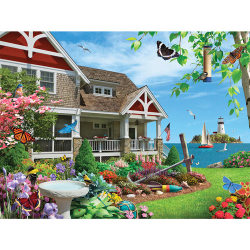 Blooming Beach House 1000 Piece Jigsaw Puzzle