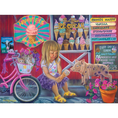Happiness Ice Cream Shop 300 Large Piece Jigsaw Puzzle