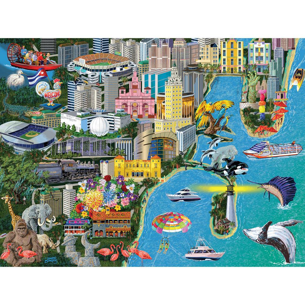 Miami 300 Large Piece Jigsaw Puzzle