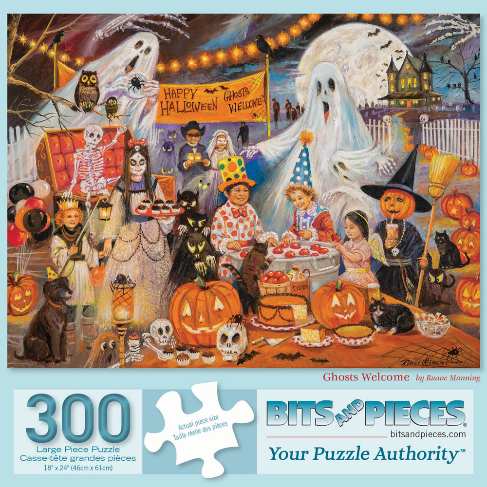 Ghosts Welcome 300 Large Piece Jigsaw Puzzle