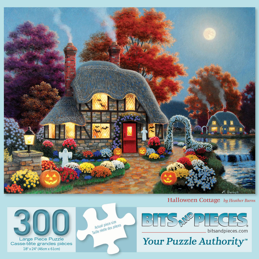 Halloween Cottage 300 Large Piece Jigsaw Puzzle
