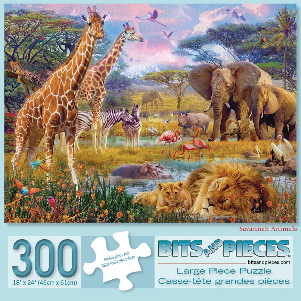 Savannah Animals 300 Large Piece Jigsaw Puzzle