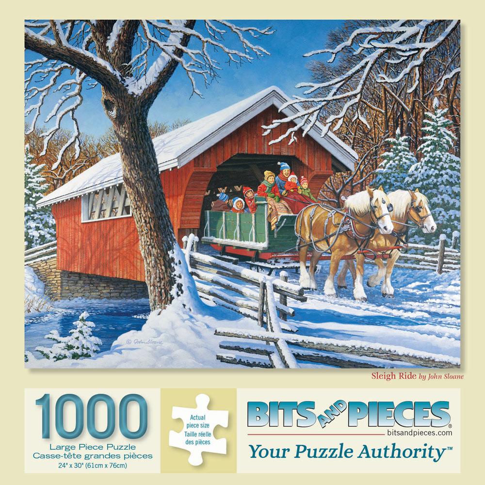 Sleigh Ride 1000 Piece Jigsaw Puzzle