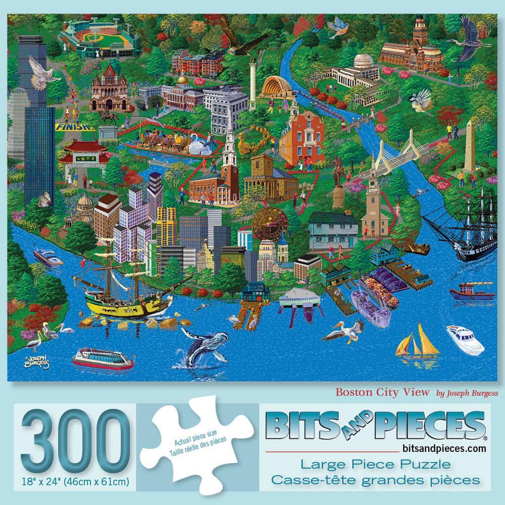 Boston 300 Large Piece Jigsaw Puzzle