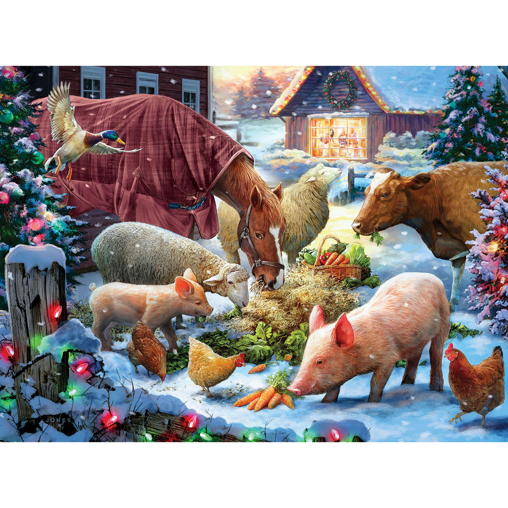 Holiday Dinner 300 Large Piece Jigsaw Puzzle