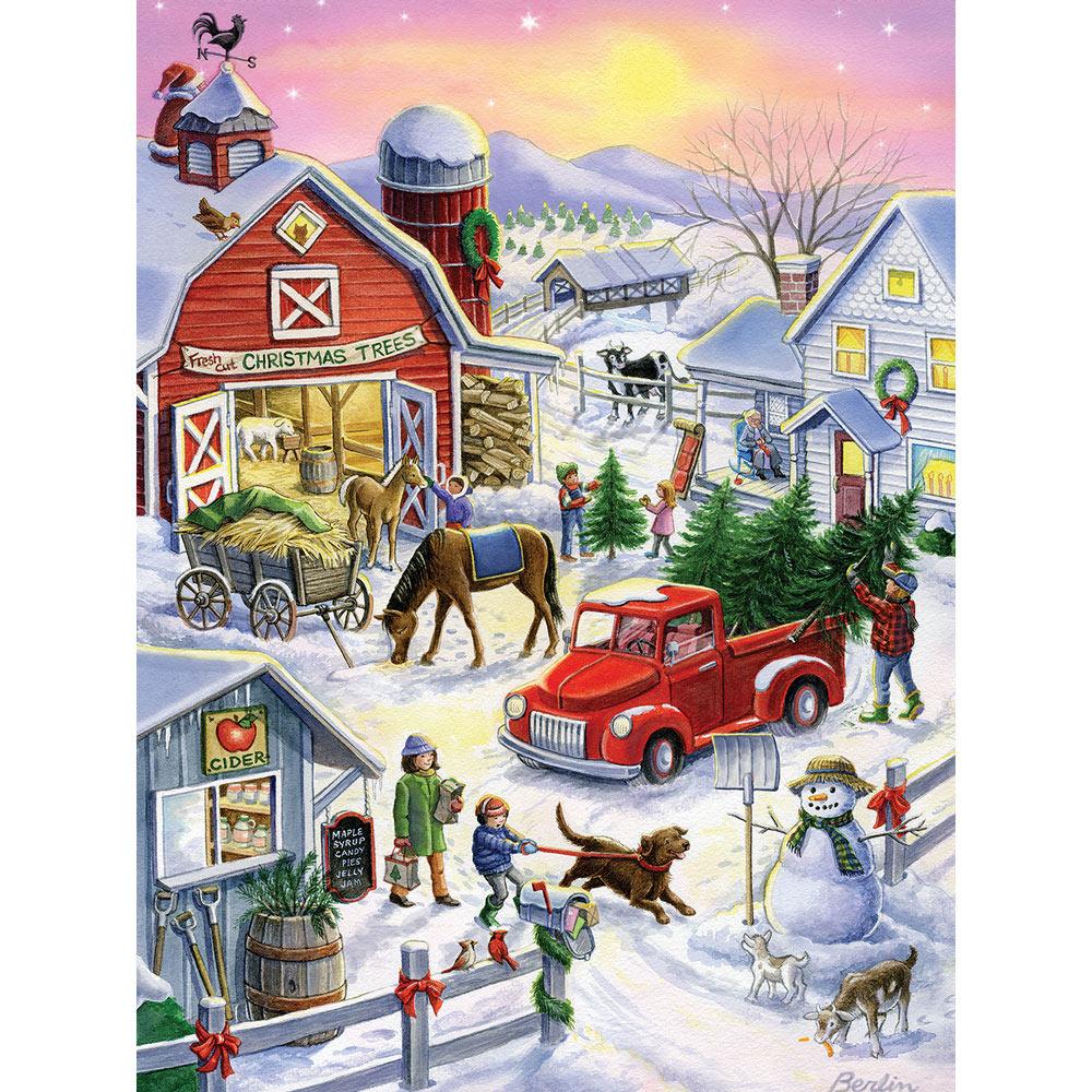 Christmas Tree Farm Fun 300 Large Piece Jigsaw Puzzle