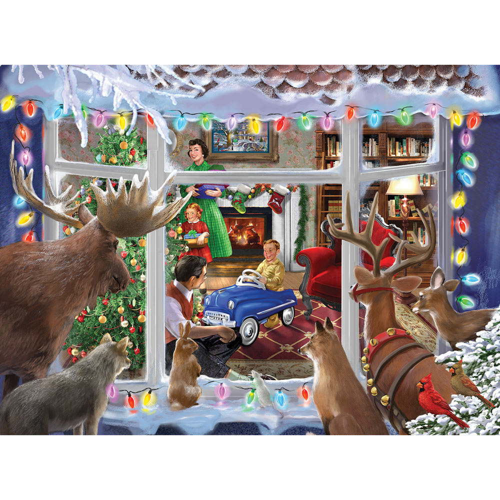 Christmas Creatures 300 Large Piece Glow-In-The-Dark Jigsaw Puzzle