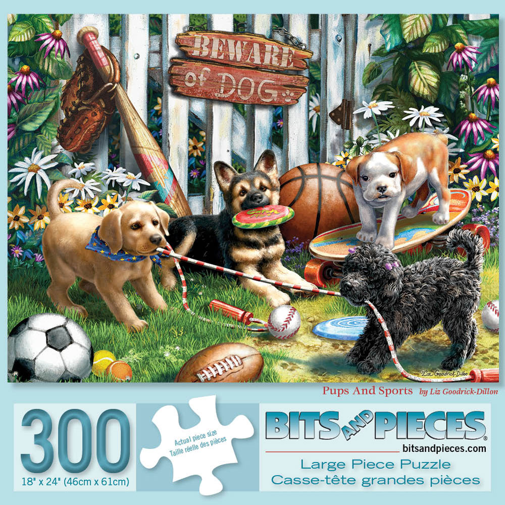 Pups And Sports 300 Large Piece Jigsaw Puzzle