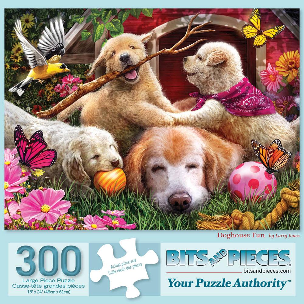 Doghouse Fun 300 Large Piece Jigsaw Puzzle