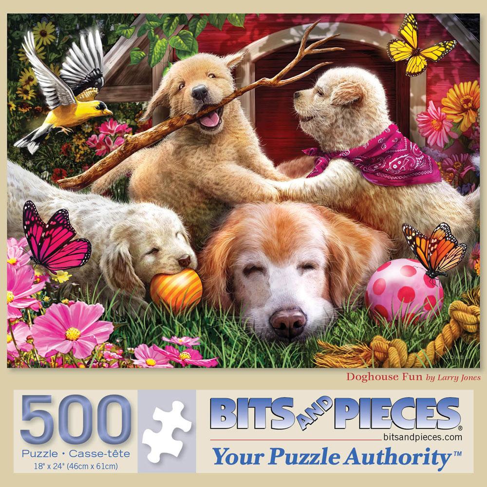 Doghouse Fun 500 Piece Jigsaw Puzzle