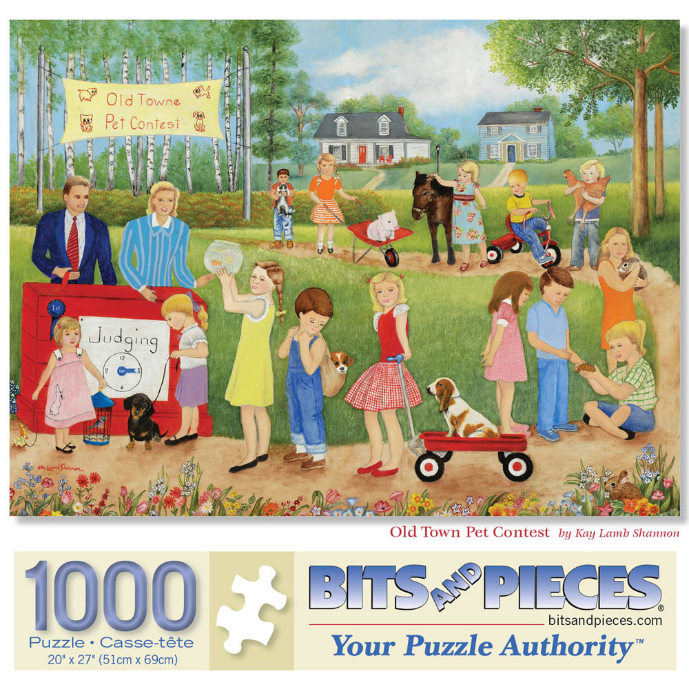 Old Town Pet Contest 1000 Piece Jigsaw Puzzle