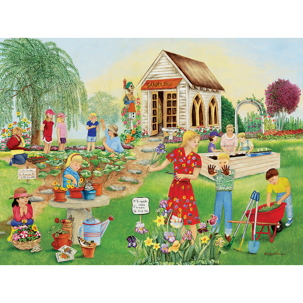 Garden Friends 1000 Piece Jigsaw Puzzle