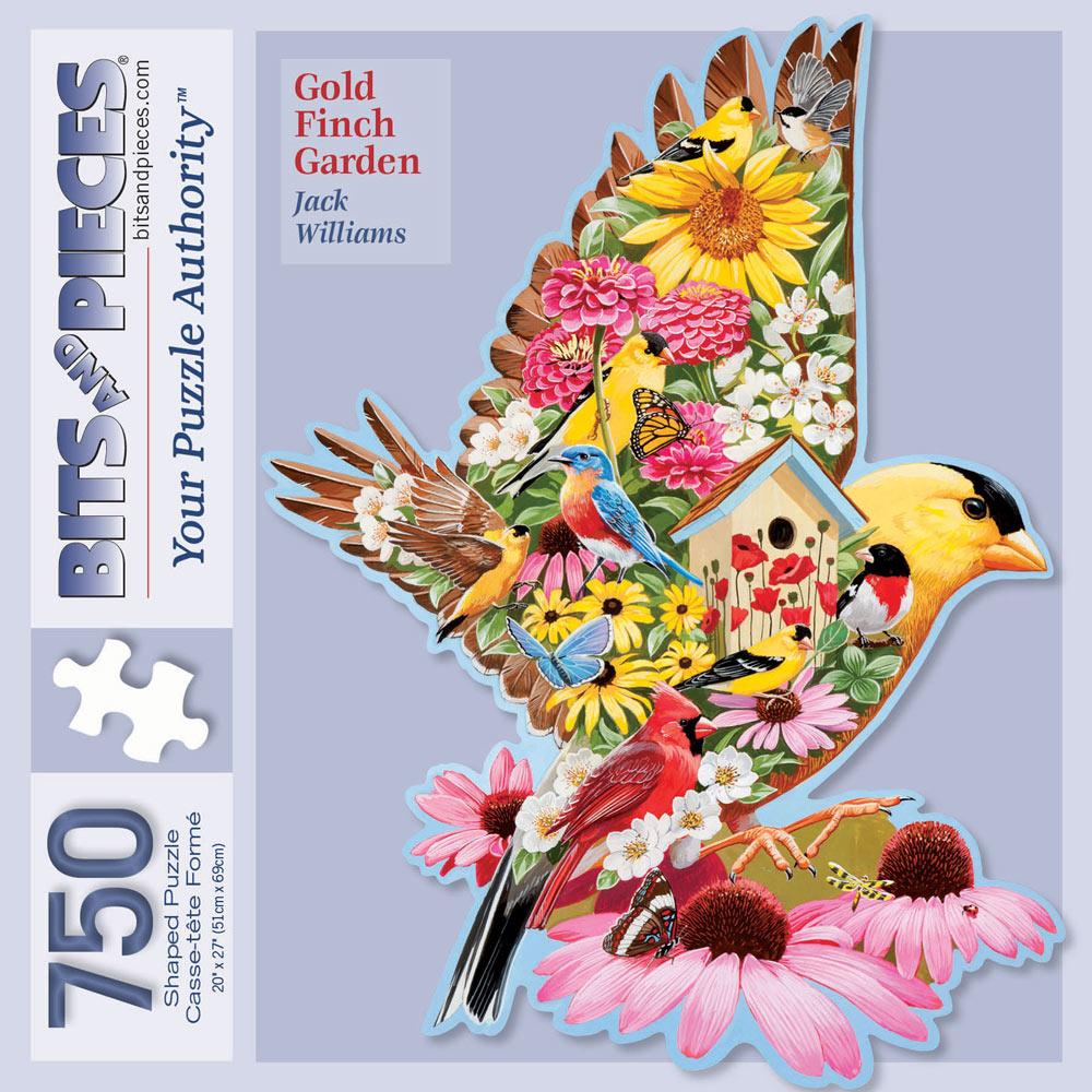 Gold Finch Garden 750 Piece Shaped Jigsaw Puzzle