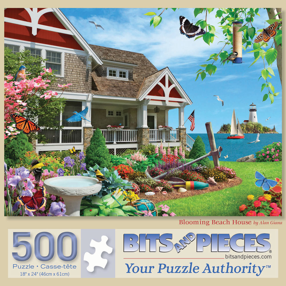 Blooming Beach House 500 Piece Jigsaw Puzzle