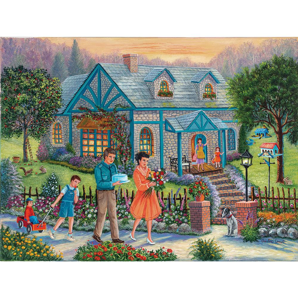 Neighbors Over For Dinner 500 Piece Jigsaw Puzzle