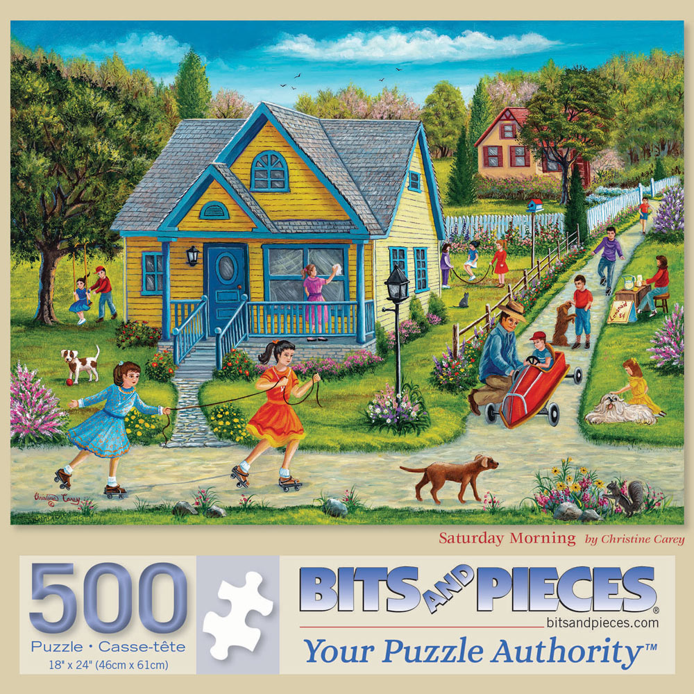 Saturday Morning 500 Piece Jigsaw Puzzle