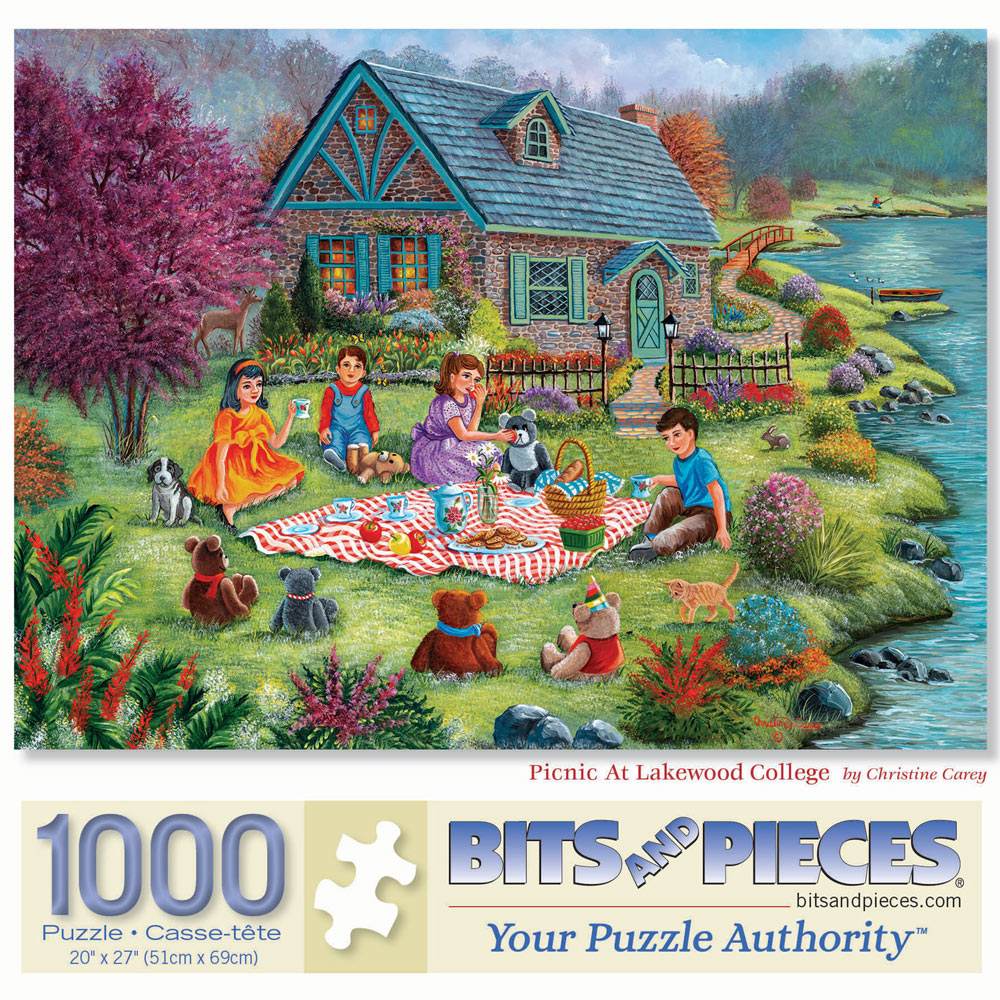 Picnic At Lakewood College 1000 Piece Jigsaw Puzzle