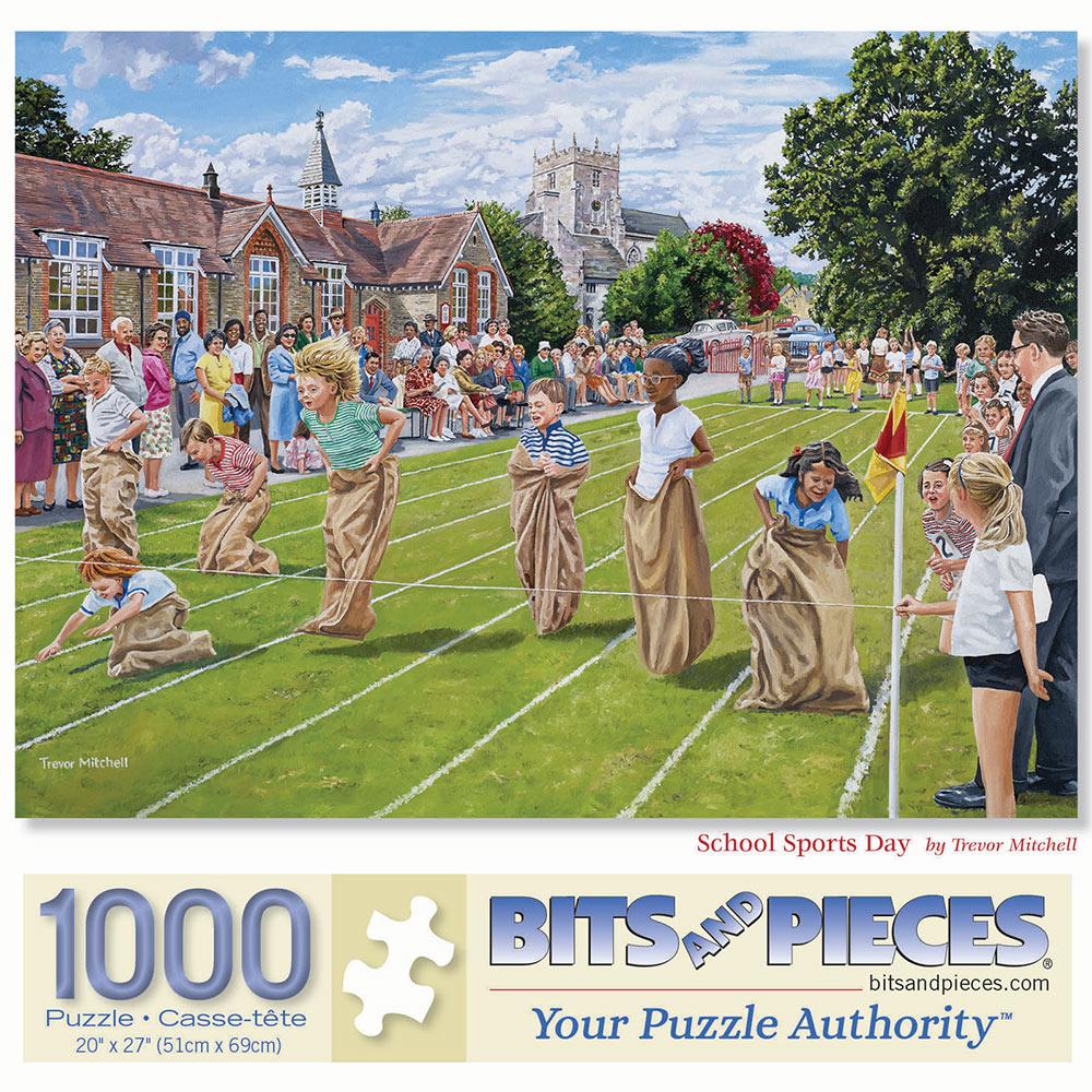 School Sports Day 1000 Piece Jigsaw Puzzle