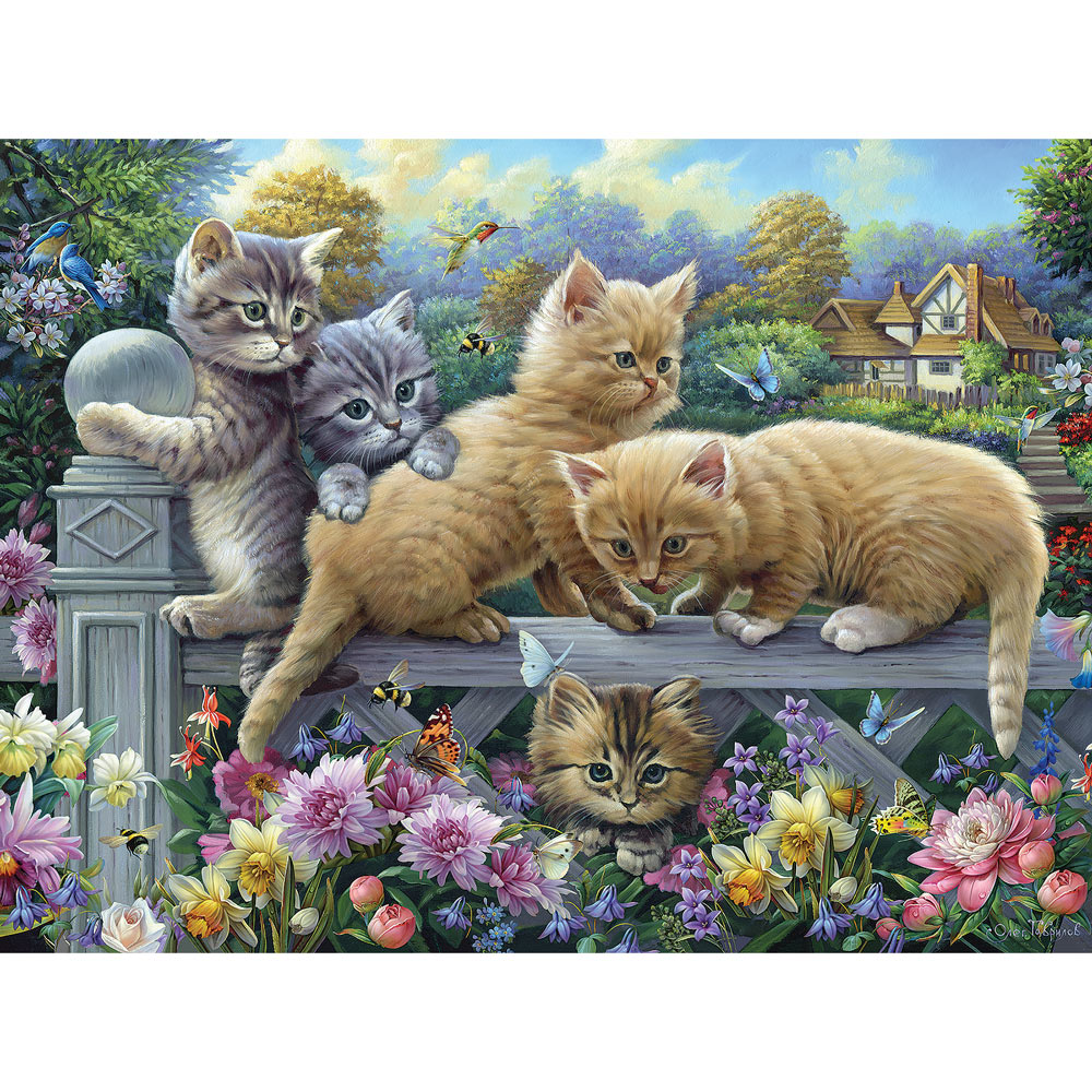 Kittens On A Fence 500 Piece Jigsaw Puzzle