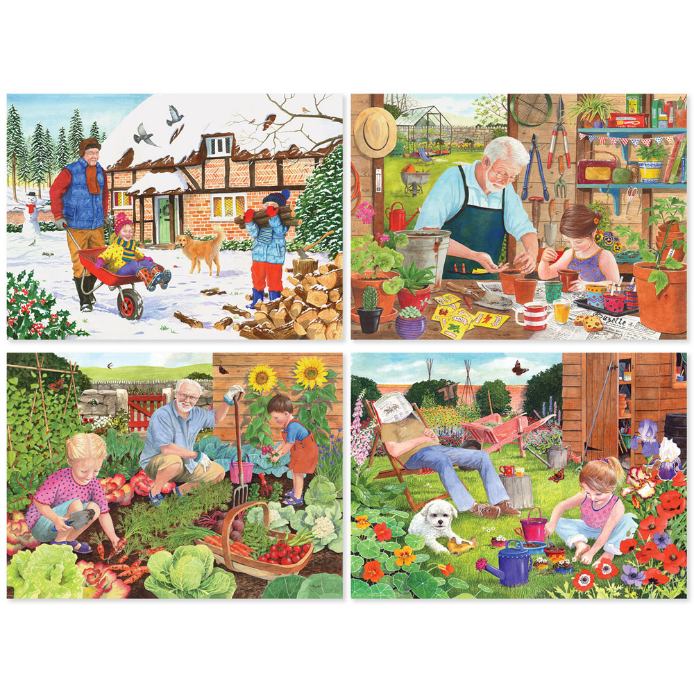 Set of 4: Tracy Hall 500 Piece Jigsaw Puzzles
