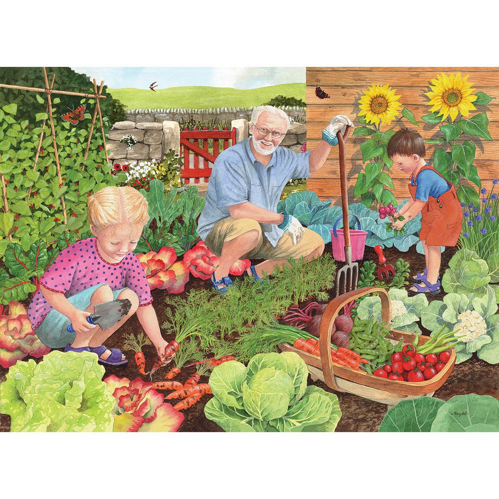 Grandad's Garden Harvest Time 1000 Piece Jigsaw Puzzle
