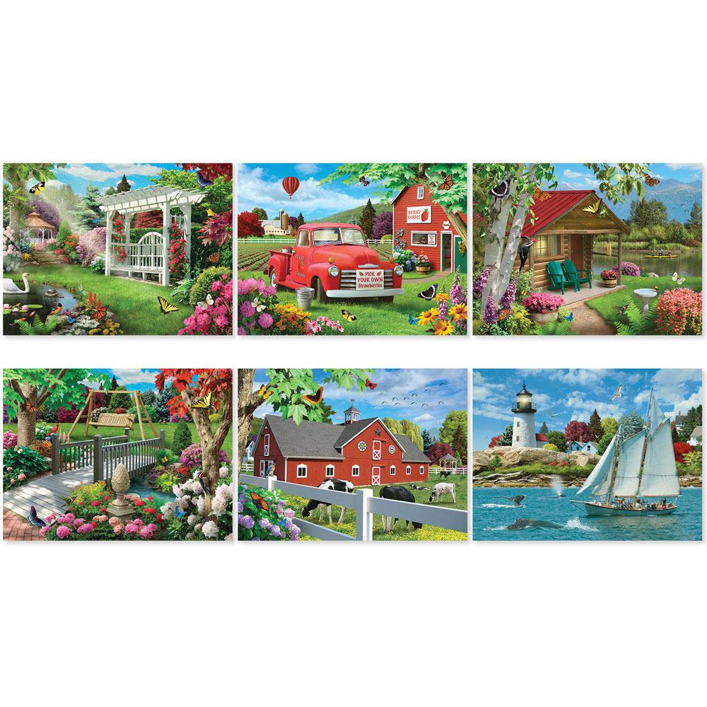 Set of 6: Alan Giana 1000 Piece Jigsaw Puzzles