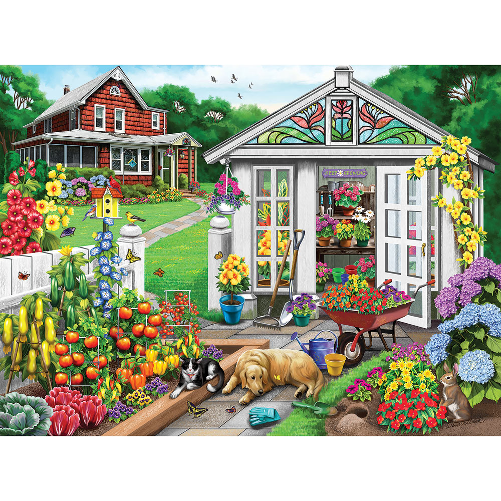 Bring On The Flowers 1000 Piece Jigsaw Puzzle