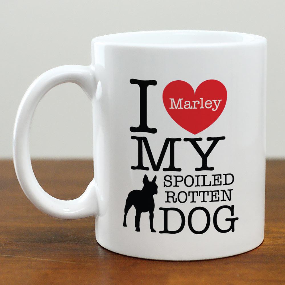 Personalized I Love My Dog Mug
