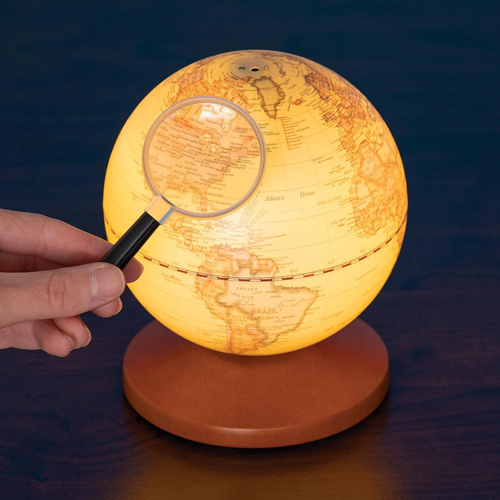 Old World Illuminated Musical Globe