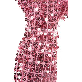 Sequined Scarf - Pink