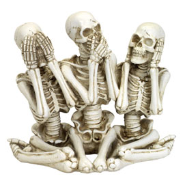 Sitting Skeleton Sculpture