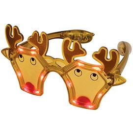 Reindeer LED Light Up Glasses