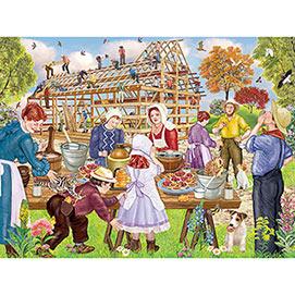 Jacob's Barn Raising 300 Large Piece Jigsaw Puzzle