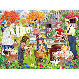 Wash Day 300 Large Piece Jigsaw Puzzle