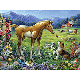Foal And Puppy 1000 Piece Jigsaw Puzzle