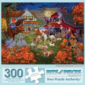 Haunted Barnyard 300 Large Piece Jigsaw Puzzle