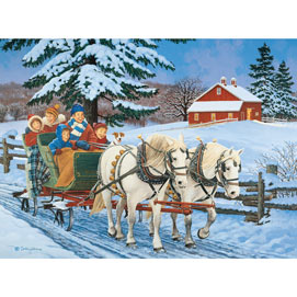 Family Sleigh Ride 500 Piece Jigsaw Puzzle