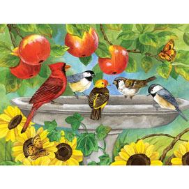 Fall Birdbath 300 Large Piece Jigsaw Puzzle