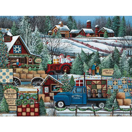 Buttermilk Farm Winter 300 Large Piece Jigsaw Puzzle