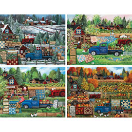 Set of 4: Debbi Wetzel 1000 Piece Jigsaw Puzzles