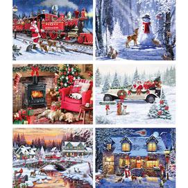 Set of 6: Macneil Studio 1000 Piece Jigsaw Puzzles