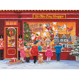 Wishful Window Shopping Christmas 300 Large Piece Jigsaw Puzzle