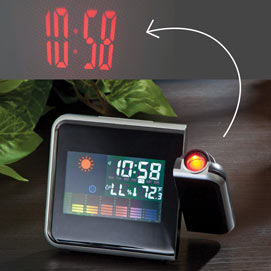 Projection Weather and Date Clock