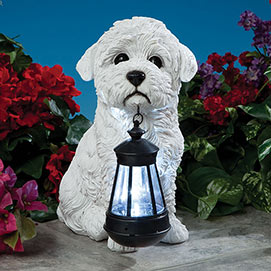 Bichon Solar Solar LED Dog Breed Garden Lantern