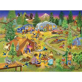 Camping with Grandma and Gramps 500 Piece Jigsaw Puzzle