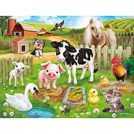 Farm Animal Club 200 Large Piece Jigsaw Puzzle